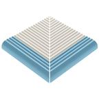 Pahlı Merdiven Kaymazı Dış Köşe Kenarı Havuz Mavi