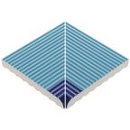 Pahlı Merdiven Kaymazı İç Köşe Havuz Mavi Kenarı Kobalt