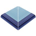 Pahlı Merdiven Kaymazı Dış Köşe Havuz Mavi Kenarı Kobalt