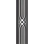 DER-8435 R  jadore Siyah Bordür Platin