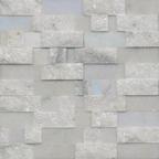 1,5x7,5 Muğla White Patlatma Düz Mozaik