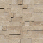1,5x7,5 Traverten Patlatma Düz Mozaik