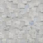 1,5x3 Muğla Beyaz Patlatma Düz Mozaik