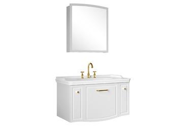 Arte 100 Cm Set (Lavabo Dolabı+Ayna) Parlak Beyaz