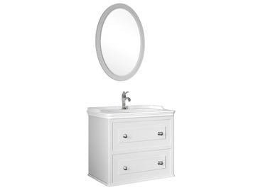 Miro 80 Cm Set (Lavabo Dolabı+Ayna) Mat Beyaz