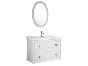Miro 100 Cm Set (Lavabo Dolabı+Ayna) Mat Beyaz