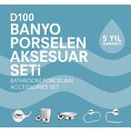 D100 Porselen Aksesuar Seti (Krom)