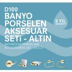 D100 Porselen Aksesuar Seti (Altın)