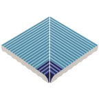 Beveled Anti-Slip Ladder Internal Corner Pool Blue-Cobalt Edge