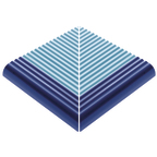 Beveled Anti-Slip Ladder External Corner Pool Blue-Cobalt Edge