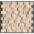 1,5x3 Traverten Patlatma Düz Mozaik