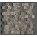 1,5x3 Dark Emperador Patlatma Düz Mozaik