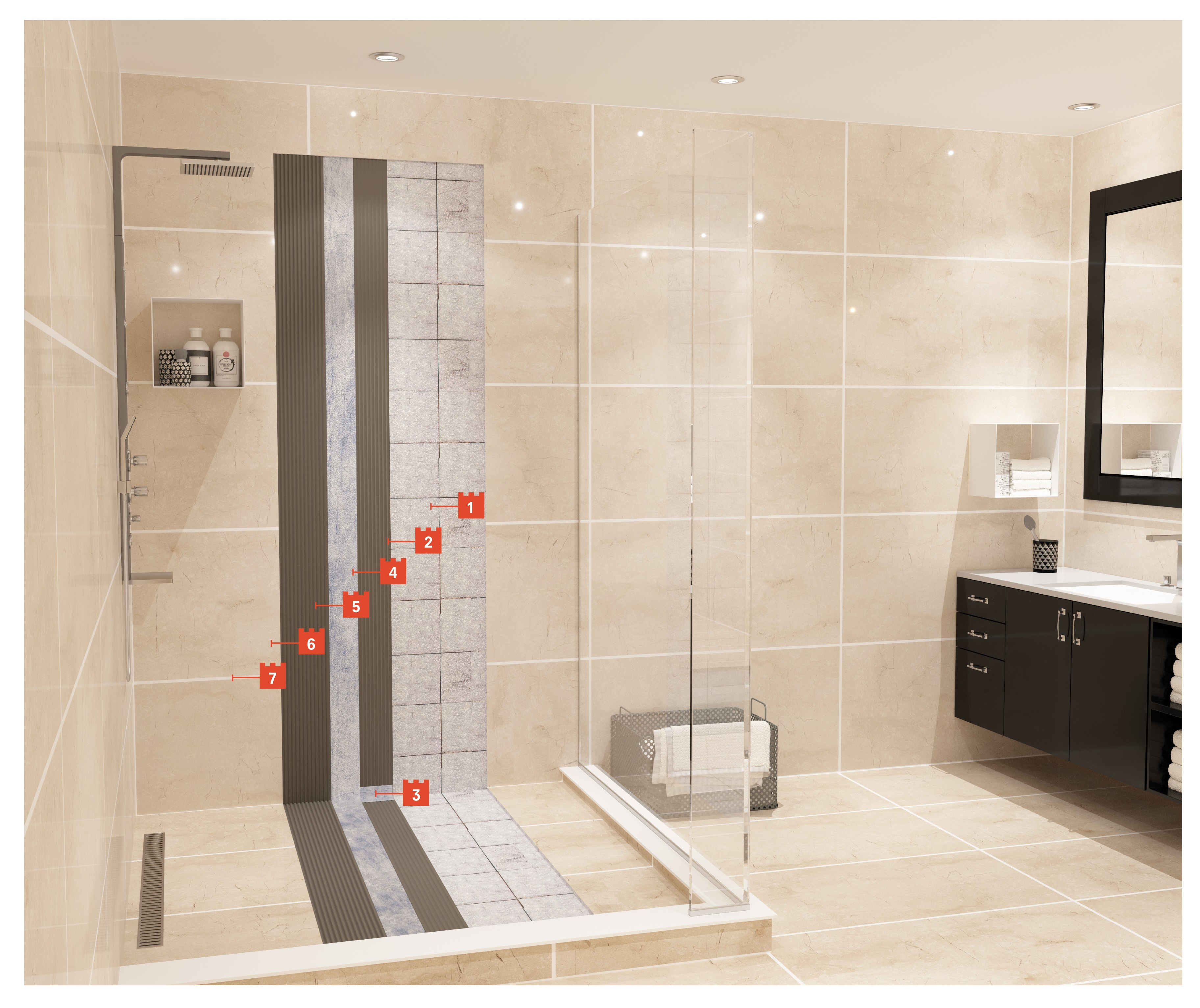 Rapid Solutions for Waterproofing & Ceramic Tile Application on Existing Tiles